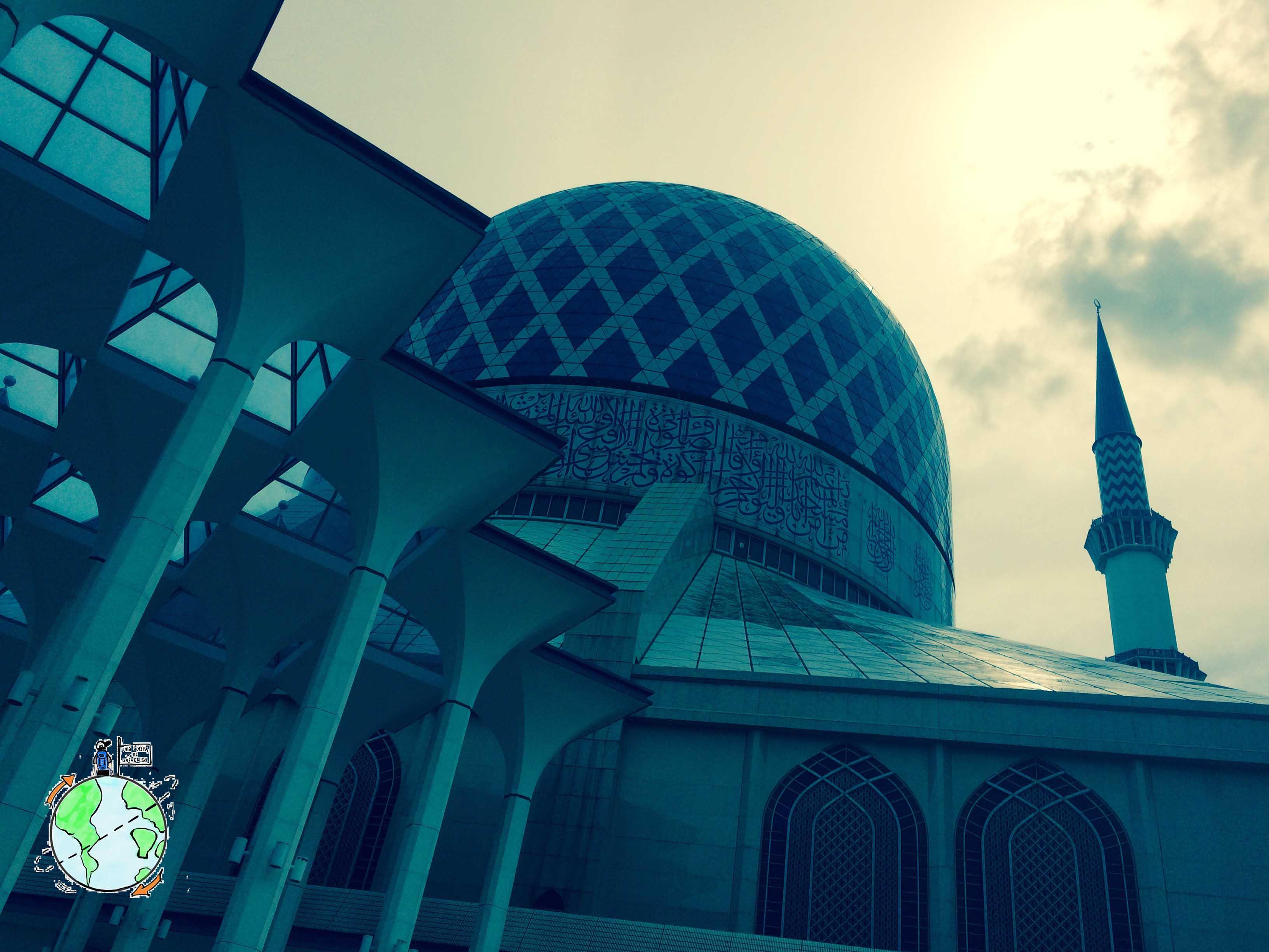 La Mezquita Azul cerca de la casa de Irwan