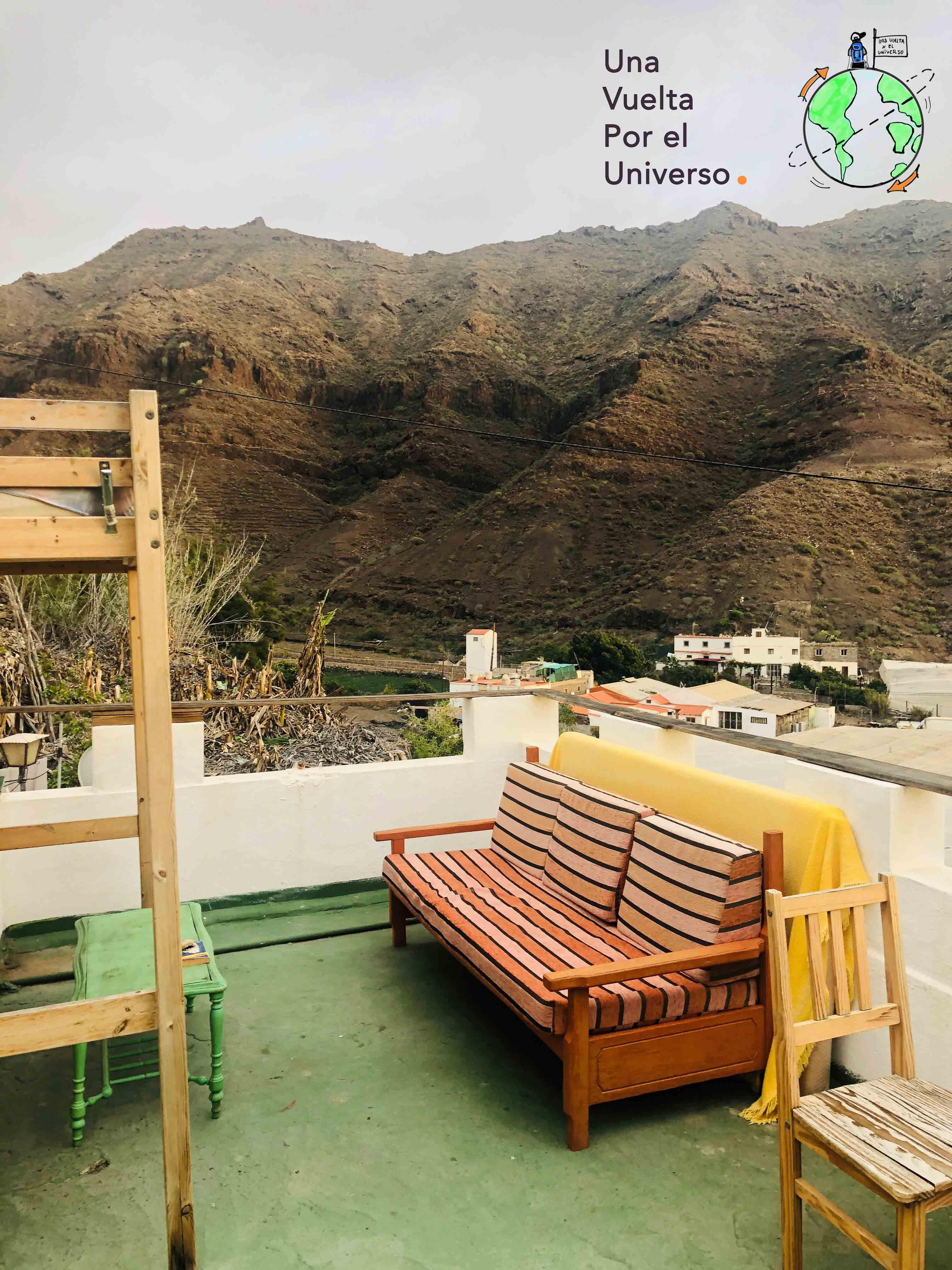 La terraza del hostel 💙