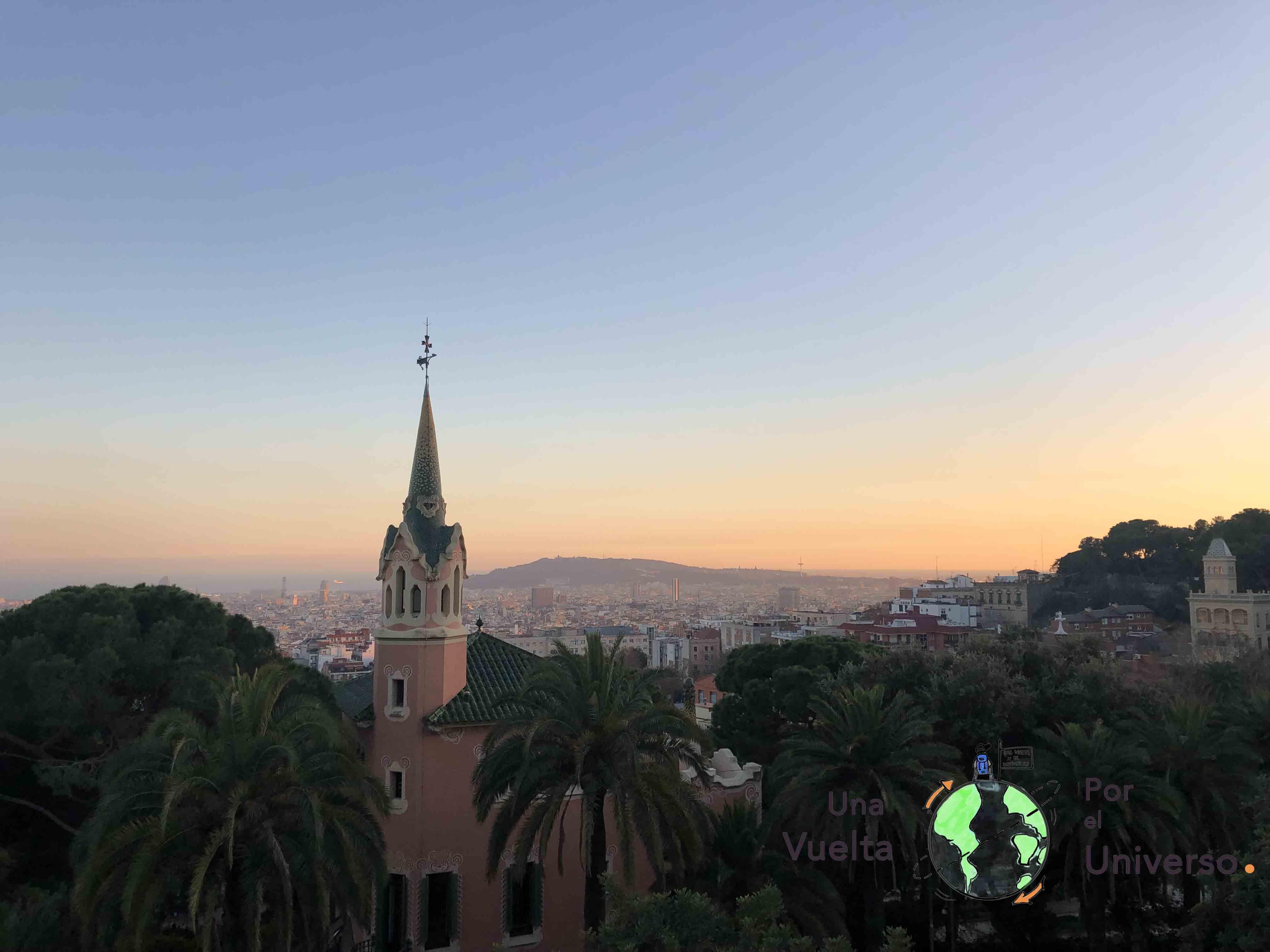 La vista desde el Park Güell